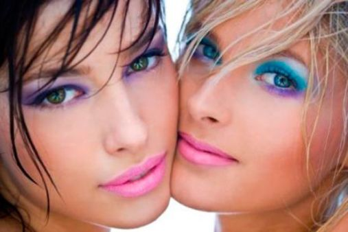 maquiagem colorida colorful makeup
